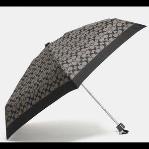 Coach-Signature Mini Umbrella